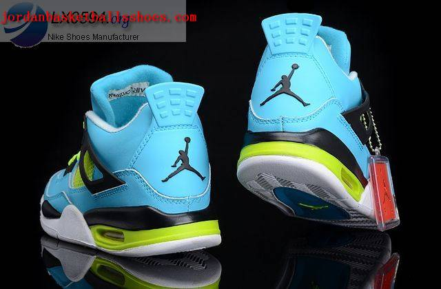 Sale Air Jordans 4 Retro blue black Shoes On 1TOPJORDAN