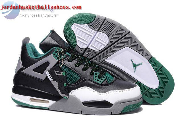 Sale Air Jordans 4 Retro black green Shoes On 1TOPJORDAN