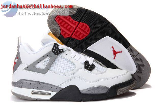 Sale Air Jordans 4 Retro white and grey Shoes On 1TOPJORDAN