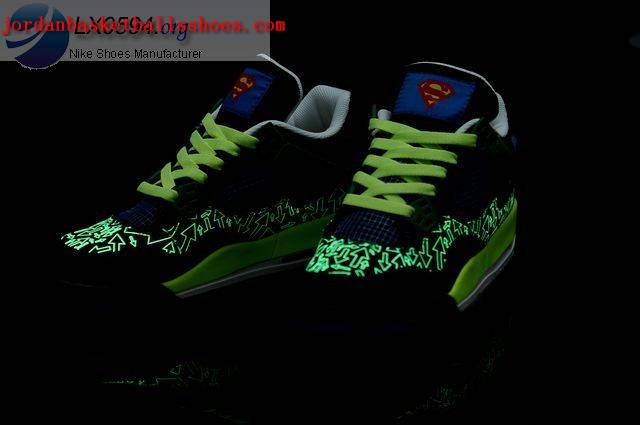 Sale Air Jordans 4 Retro superman glow in the dark Shoes On 1TOPJORDAN