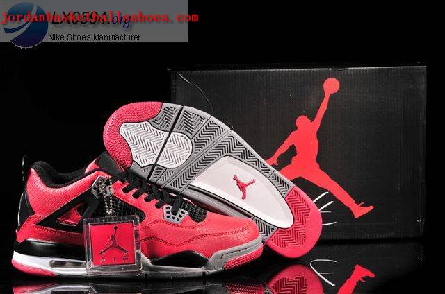 Sale Air Jordans 4 Retro red black Fish Scale Pattern Shoes On 1TOPJORDAN - Click Image to Close