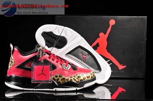 huge discount 73008 86ca0 Sale Air Jordans 4 Retro leopard print red black Shoes On 1TOPJORDAN ...