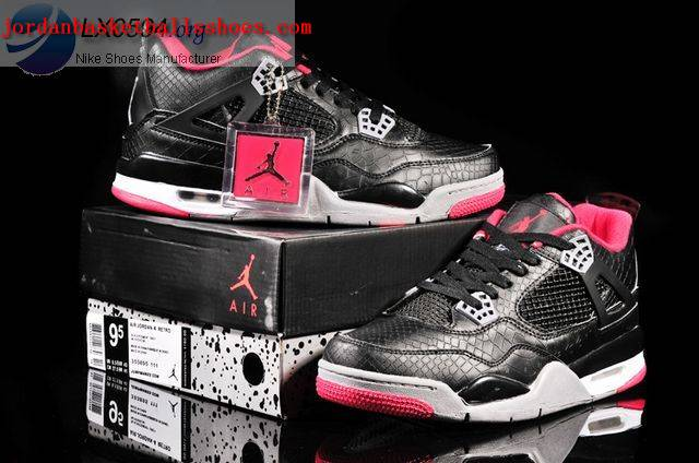 Sale Air Jordans 4 Retro black Fish Scale Pattern Shoes On 1TOPJORDAN