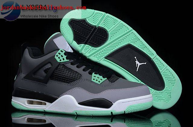 Sale Air Jordans 4 Retro Green Glow Shoes On 1TOPJORDAN