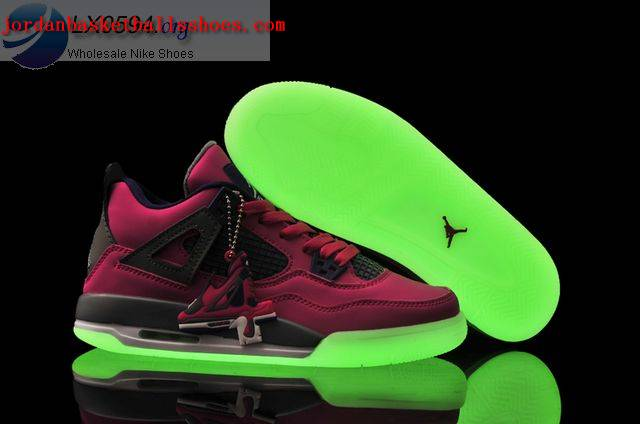 Sale Air Jordans 4 Women pink glow in the dark Shoes On 1TOPJORDAN