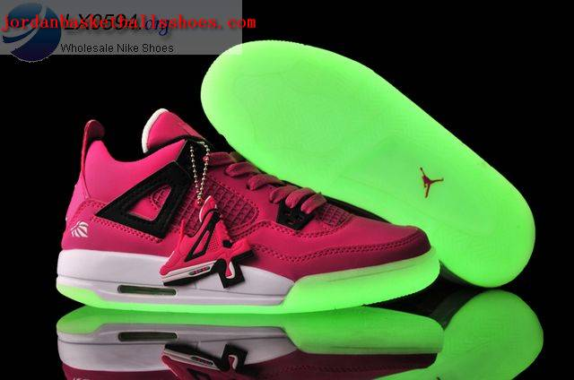 Sale Air Jordans 4 Women glow in the dark pink Shoes On 1TOPJORDAN