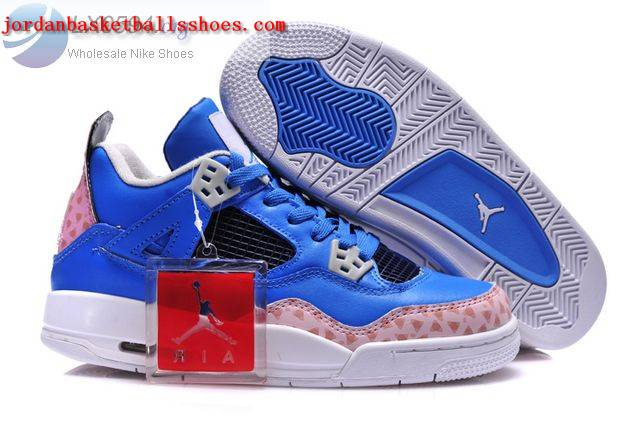 Sale Air Jordans 4 Women blue white Shoes On 1TOPJORDAN
