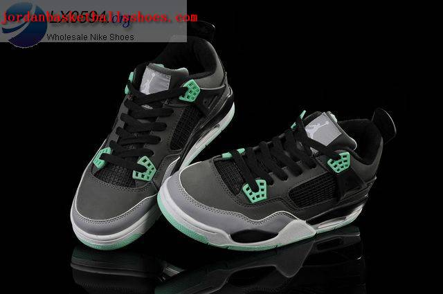 Sale Girls Air Jordans 4 Green Glow Shoes On 1TOPJORDAN