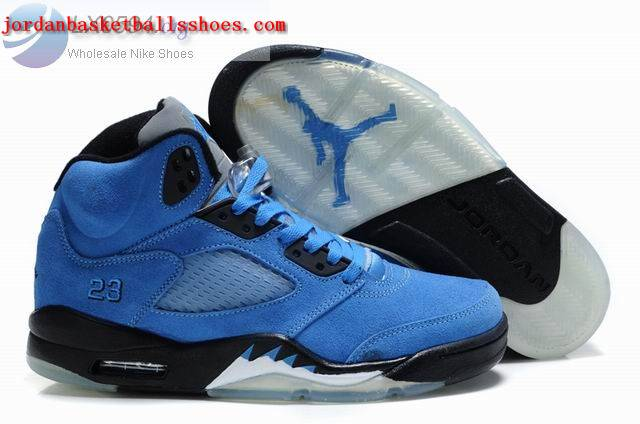 Sale Air Jordans 5 Retro blue black Shoes On 1TOPJORDAN