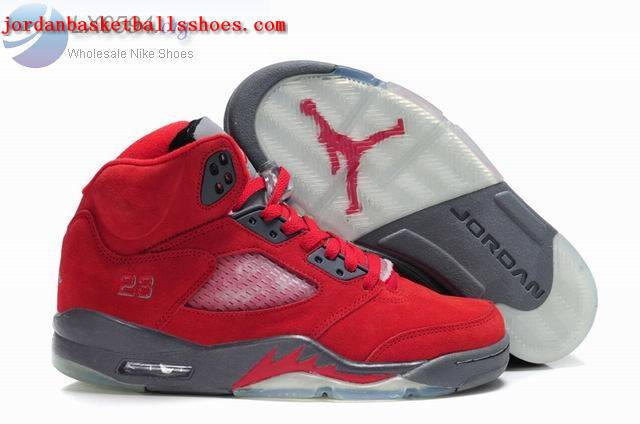 Sale Air Jordans 5 Retro red grey Shoes On 1TOPJORDAN