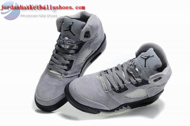 Sale Air Jordans 5 Retro grey black Shoes On 1TOPJORDAN