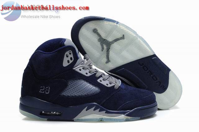 Sale Air Jordans 5 Retro dark blue Shoes On 1TOPJORDAN