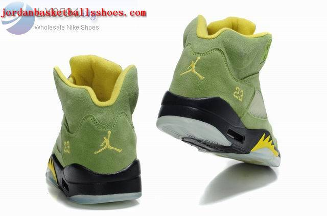 Sale Air Jordans 5 Retro green black Shoes On 1TOPJORDAN
