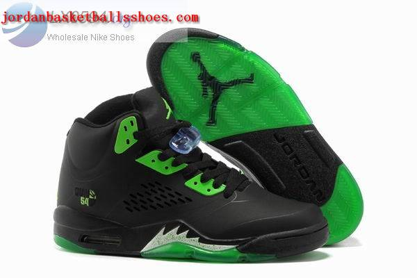 Sale Air Jordans 5 Retro black green Shoes On 1TOPJORDAN