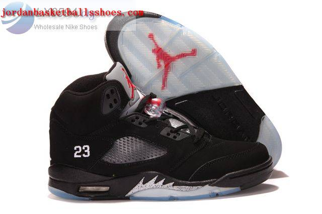 Sale Air Jordans 5 Retro Black Silver Shoes On 1TOPJORDAN