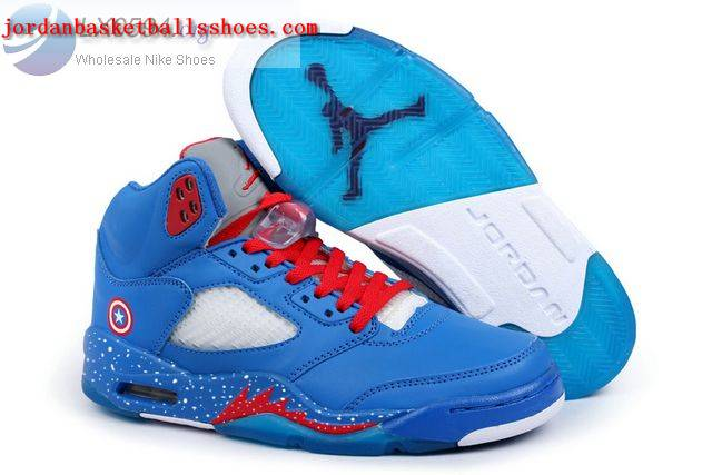 Sale Air Jordans 5 Retro Captain America Shoes Shoes On 1TOPJORDAN