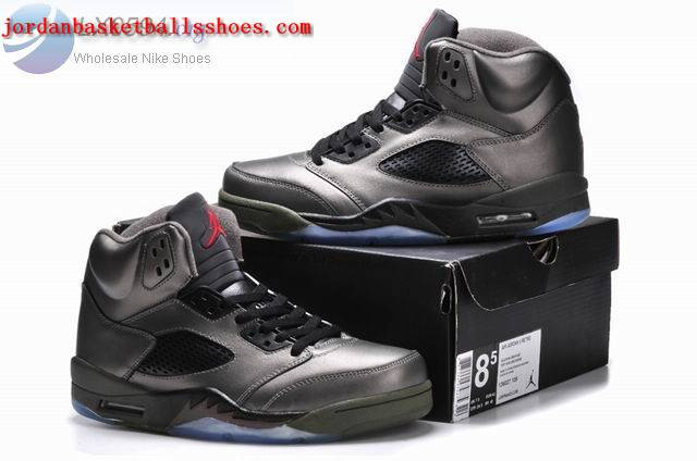 Sale Air Jordans 5 Retro Silver Black Shoes On 1TOPJORDAN