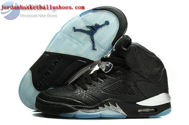 Sale Air Jordans 5 3Lab5 Metallic Black Silver Shoes On 1TOPJORDAN