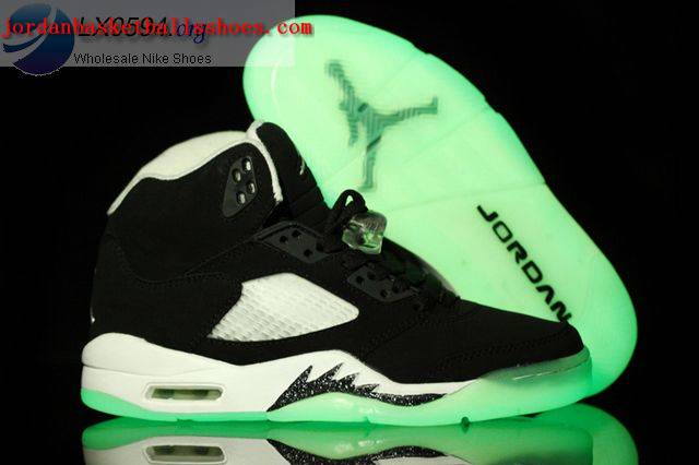 Sale Air Jordans 5 Oreo Glow in the Dark Shoes On 1TOPJORDAN