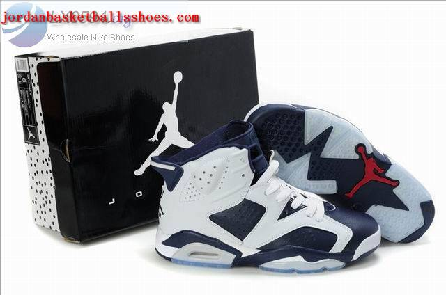 Sale Air Jordans 6 Retro white dark blue Shoes On 1TOPJORDAN