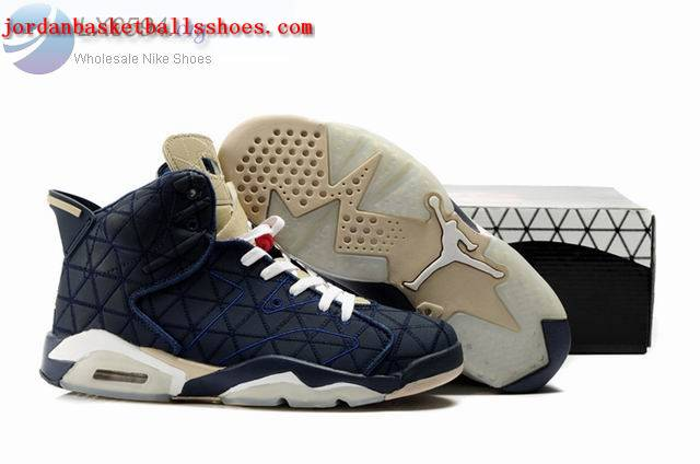 Sale Air Jordans 6 Retro dark blue white Shoes On 1TOPJORDAN