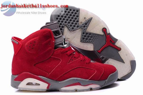 Sale Air Jordans 6 Retro red grey Shoes On 1TOPJORDAN