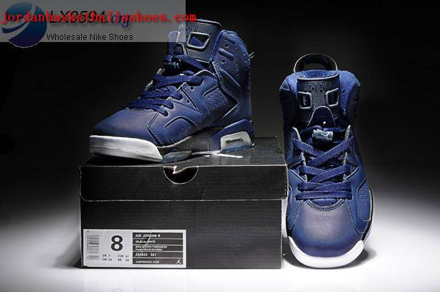 Sale Air Jordans 6 Retro dark blue black Shoes On 1TOPJORDAN