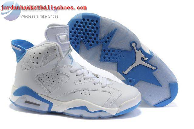 Sale Air Jordans 6 Women white blue Shoes On 1TOPJORDAN