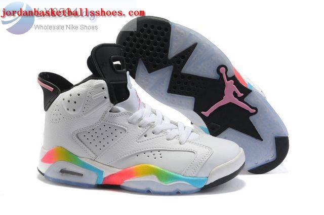 Sale Air Jordans 6 Women white rainbow Shoes On 1TOPJORDAN