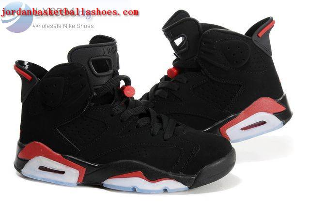 Sale Air Jordans 6 Women black red Shoes On 1TOPJORDAN
