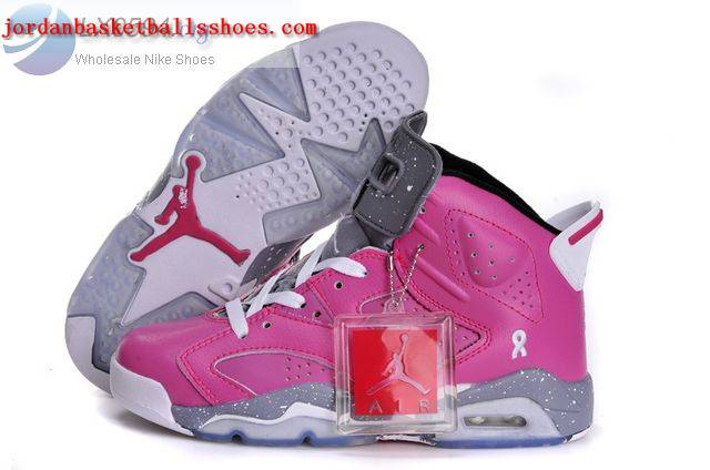 Sale Air jordan 6 Retro Womens Pink Grey Shoes On 1TOPJORDAN