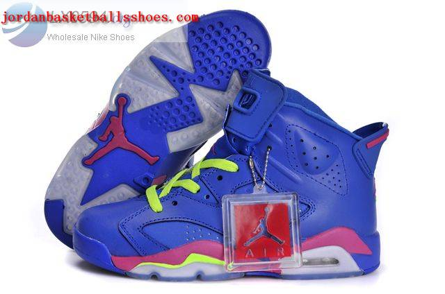 Sale Air Jordans 6 Womens Blue Pink Volt Shoes On 1TOPJORDAN