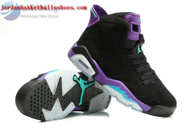 Sale Air Jordans 6 Grape Black Purple Women Shoes On 1TOPJORDAN