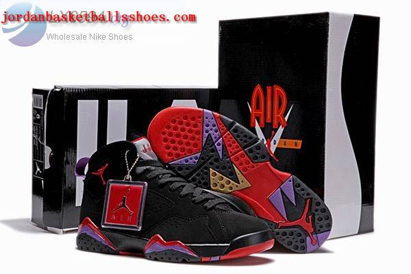 Sale Air Jordans 7 Retro Black Red Purple Shoes On 1TOPJORDAN