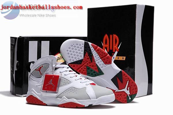 Sale Air Jordans 7 Retro white grey red Shoes On 1TOPJORDAN