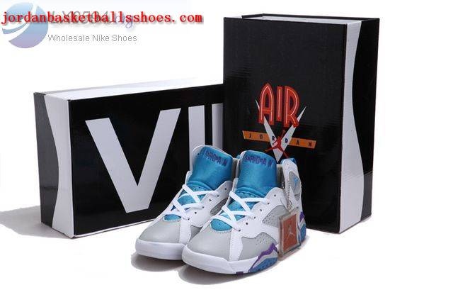 Sale Air Jordans 7 Women White grey blue purple Shoes On 1TOPJORDAN