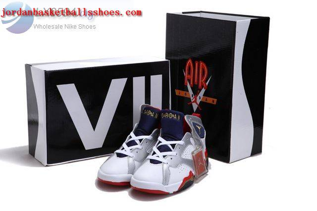 Sale Air Jordans 7 Women white silver red gold Shoes On 1TOPJORDAN