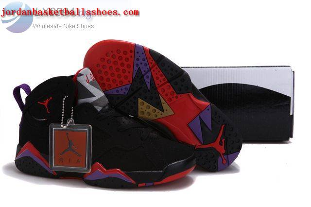 Sale Air Jordans 7 Women black red purple Shoes On 1TOPJORDAN