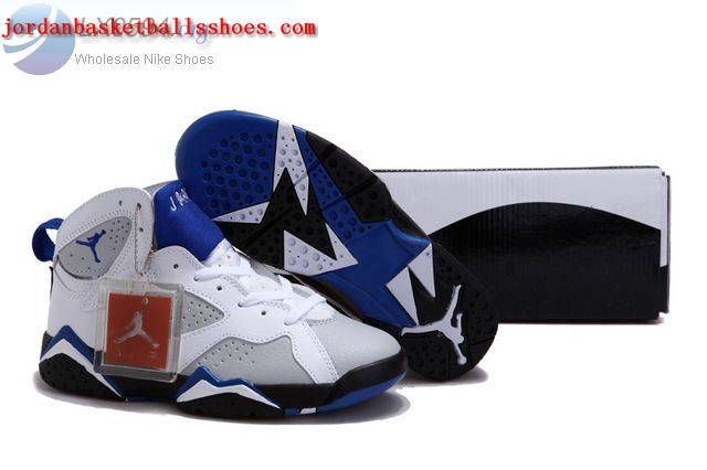 Sale Air Jordans 7 Women white grey blue Shoes On 1TOPJORDAN