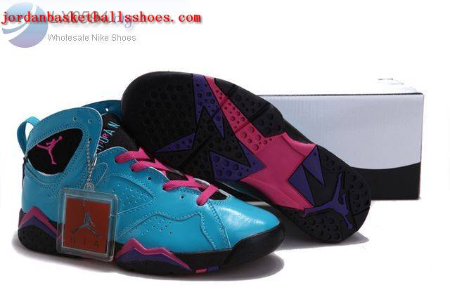 Sale Air Jordans 7 Women blue pink purple Shoes On 1TOPJORDAN
