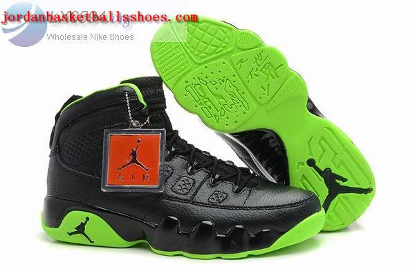 Sale Air Jordans 9 Retro black green Shoes On 1TOPJORDAN