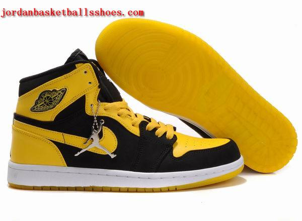 Sale Air Jordans 1 retro black yellow white Shoes On 1TOPJORDAN