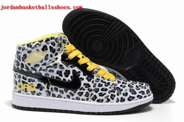 Sale Air Jordans 1 retro white black cheetah print sneakers Shoes On 1TOPJORDAN