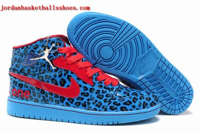 Sale Animal print Air Jordans 1 retro blue red sneakers Shoes On 1TOPJORDAN