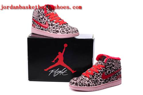 Sale Leopard print Jordan retro 1 pink red sneakers Shoes On 1TOPJORDAN