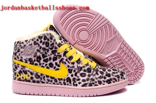 Sale Cheetah print Air Jordans 1 for sale pink yellow Shoes On 1TOPJORDAN