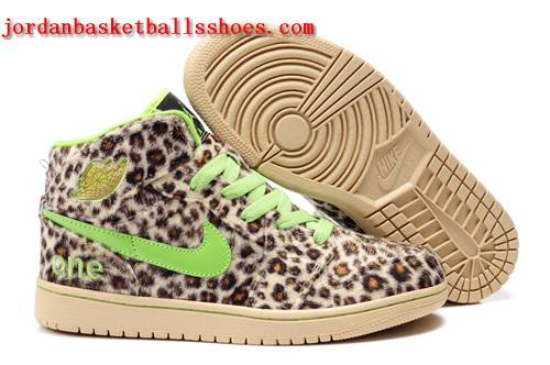 Sale Air Jordans 1 leopard print sneakers beige green Shoes On 1TOPJORDAN