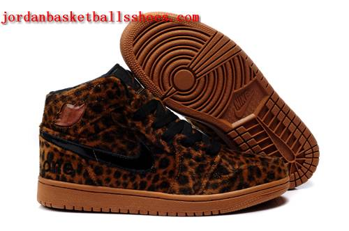 Sale Cheetah print air jordan 1 brown mens sneakers Shoes On 1TOPJORDAN