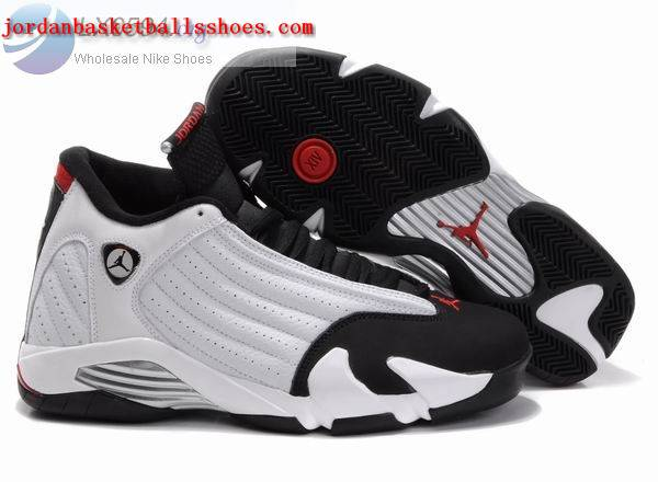 Sale Air Jordans 14 Retro white black Shoes On 1TOPJORDAN
