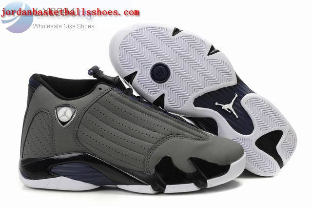 Sale Air Jordans 14 Retro grey black Shoes On 1TOPJORDAN